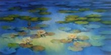 Blue Flower Beauty | Painting by artist Swati Kale | oil | Canvas