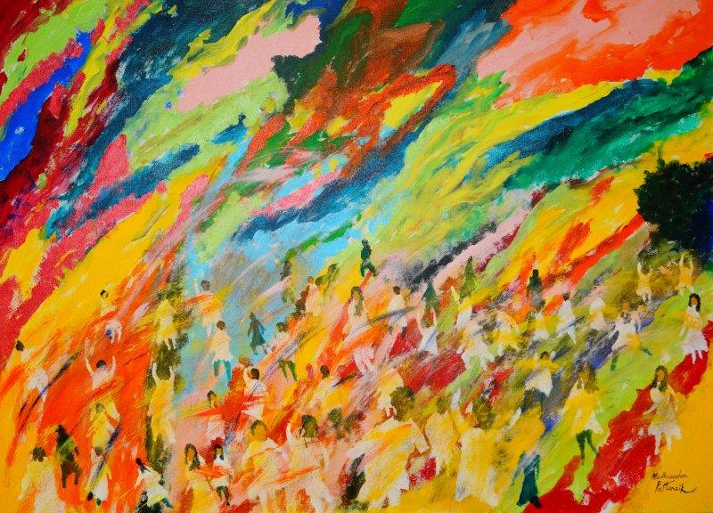 Festival Of Colours holi by artist Madhusudan Pattanaik  : festivalofcolours holi from www.artzolo.com size 800 x 576 jpeg 144kB