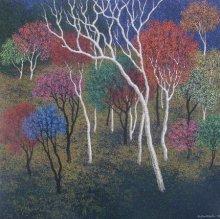 Sanjay Devsale | Acrylic Painting title Landscape 6 on Canvas | Artist Sanjay Devsale Gallery | ArtZolo.com