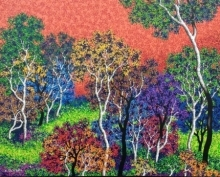 Nature Acrylic Art Painting title 'Nature 12' by artist Sanjay Devsale