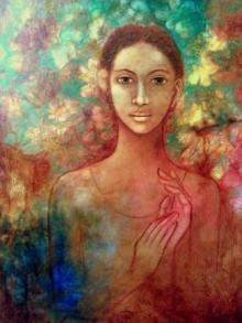 Figurative Acrylic Art Painting title 'Untitled' by artist Joshua Shekar