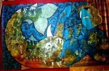 Abstract Acrylic Art Painting title 'Matsya' by artist Ramesh Gorjala
