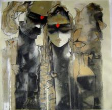 Sachin Jaltare | Mixed-media Painting title Untitled on Canvas | Artist Sachin Jaltare Gallery | ArtZolo.com
