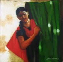 Figurative Acrylic Art Painting title 'Untitled' by artist Shankar Kendale