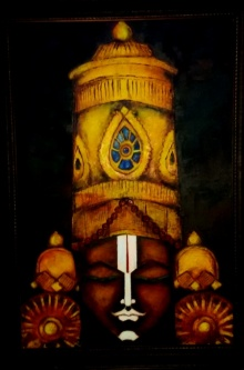 Religious Oil Art Painting title 'Lord balaji' by artist Kattamanchi
