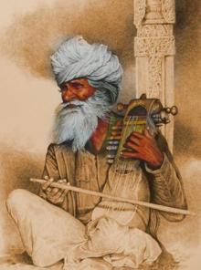 Figurative Mixed-media Art Painting title 'Old Man Crop' by artist Milind Varangaonkar