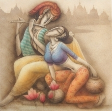 Couple 2 | Painting by artist Ramesh Pachpande | acrylic | Canvas