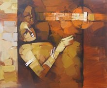 Figurative Acrylic Art Painting title 'Concert' by artist Deepa Vedpathak