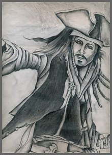 Johnny depp | Drawing by artist Soumen Roy |  | pencil | Art Paper