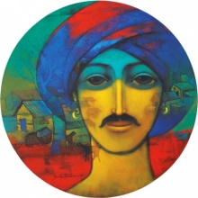 Turban Man | Painting by artist Sachin Akalekar | acrylic | Canvas