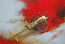 Sachin Akalekar | Acrylic Painting title Bullockart on Canvas | Artist Sachin Akalekar Gallery | ArtZolo.com