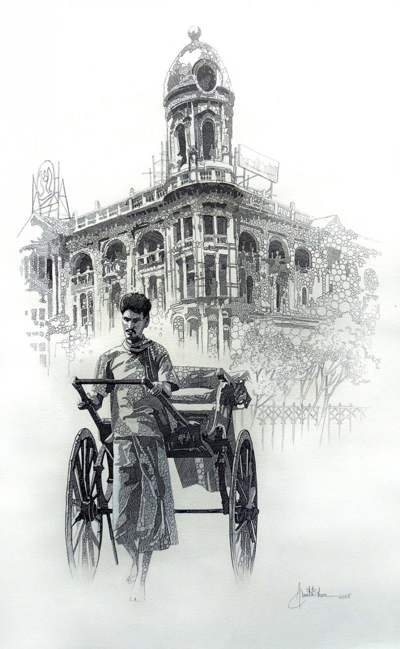 City Of Kolkata 1 Drawing by Amit Bhar | Fine Art - ArtZolo com