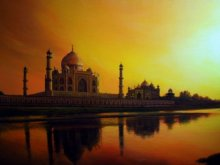 Place Acrylic Art Painting title 'Taj Mahal' by artist Amit Bhar