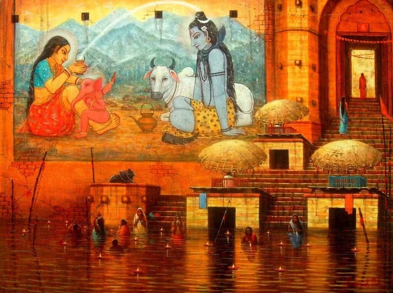 Banaras, Varanasi Ghat Paintings