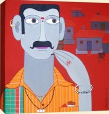 Figurative Acrylic Art Painting title Untitled 10 by artist Narsimlu Kandi