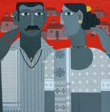 Figurative Acrylic Art Painting title Untitled 11 by artist Narsimlu Kandi