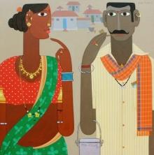 Figurative Acrylic Art Painting title Untitled 12 by artist Narsimlu Kandi