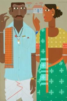 Figurative Acrylic Art Painting title Untitled 14 by artist Narsimlu Kandi