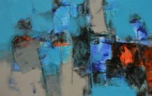 Abstract Acrylic Art Painting title 'Untitled 26' by artist Umesh Patil