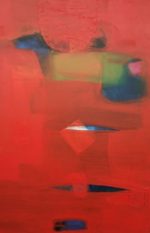 Abstract Acrylic Art Painting title 'Untitled 11' by artist Yashwant Pawar