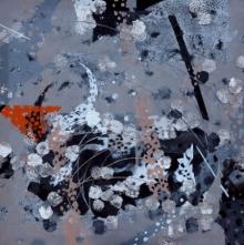 Abstract Acrylic Art Painting title 'Atmkhoj 10' by artist Asif Shaikh