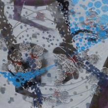 Abstract Acrylic Art Painting title 'Atmkhoj 2' by artist Asif Shaikh