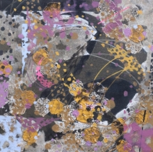 Abstract Acrylic Art Painting title 'Atmkhoj 3' by artist Asif Shaikh