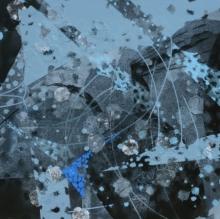 Abstract Acrylic Art Painting title 'Atmkhoj 6' by artist Asif Shaikh