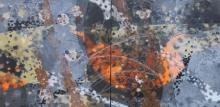 Abstract Acrylic Art Painting title 'Atmkhoj 8' by artist Asif Shaikh