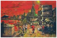 Sandeep Chhatraband | Acrylic Painting title Banaras Ghat 11 on Canvas