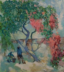 Gardening | Painting by artist Sikandar Mulla | oil | Canvas
