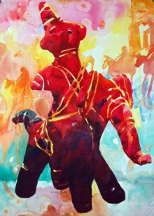 Manas Biswas | Watercolor Painting title Warrior on Paper