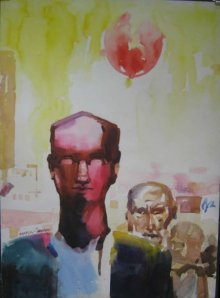 Manas Biswas | Watercolor Painting title Fanus on Paper