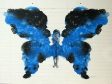 Figurative Acrylic Art Painting title 'Butterfly' by artist Manoj Sakale