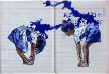 Figurative Acrylic Art Painting title 'Panished' by artist Manoj Sakale