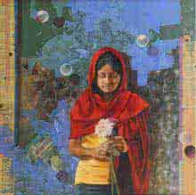 Figurative Acrylic-oil Art Painting title Traditionally Modern by artist Nitin Marde