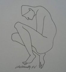 Erotic Ink Art Drawing title 'Untitled 4' by artist Chikmath FV