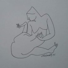 Erotic Ink Art Drawing title 'Untitled 2' by artist Chikmath FV