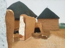 Landscape Acrylic Art Painting title Childhood Memories 3 by artist Sandeep Ghule