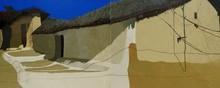 Landscape Acrylic Art Painting title Childhood Memories 6 by artist Sandeep Ghule
