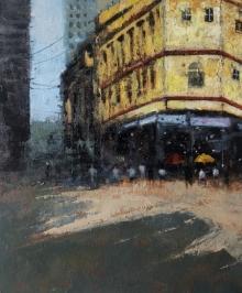Sandeep Ghule | Acrylic Painting title Mumbai Series 3 on Canvas | Artist Sandeep Ghule Gallery | ArtZolo.com