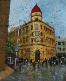 Sandeep Ghule Paintings | Acrylic Painting - Mumbai Series 4 by artist Sandeep Ghule | ArtZolo.com