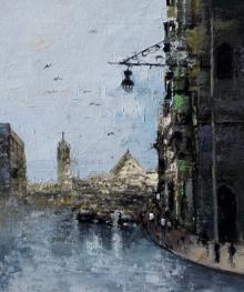Sandeep Ghule Paintings | Acrylic Painting - Mumbai Series 7 by artist Sandeep Ghule | ArtZolo.com