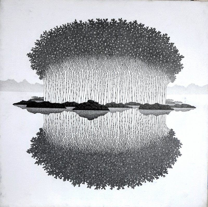 Reflection 15 ii by artist prakash ghadge ink drawings on canvas reflection 15 ii drawing by artist prakash ghadge ink canvas freerunsca Gallery