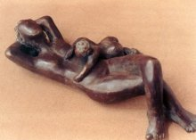 Bronze Sculpture titled 'Unconditional Love 3' by artist Sunita Lamba