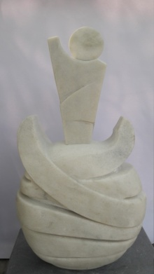 Untitled | Sculpture by artist Nema Ram | White Marble