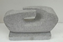 Granite Sculpture titled 'Relationship' by artist Nema Ram