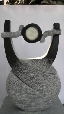Black Marble Sculpture titled 'Untitled' by artist Nema Ram