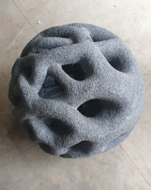 Black Marble Sculpture titled 'Void' by artist Nema Ram