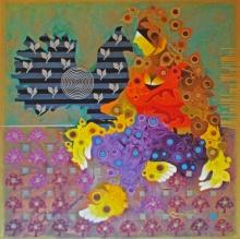 contemporary Acrylic Art Painting title Creation 37 by artist Ranjit Singh Kurmi